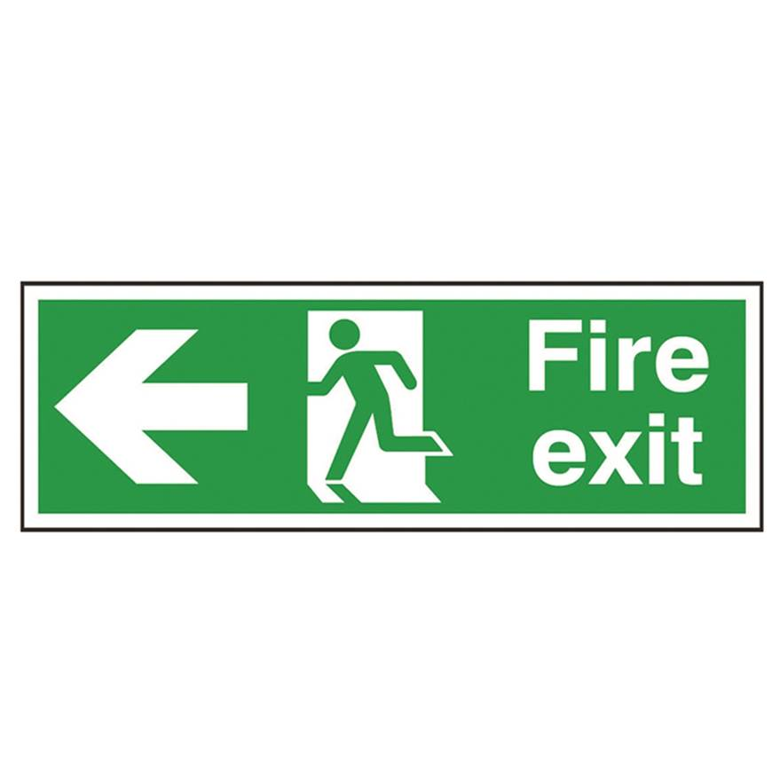 Picture of Fire Exit Left Arrow Sign