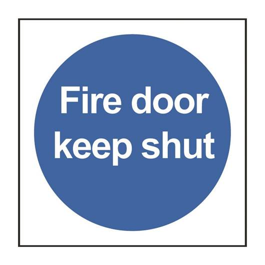 Picture of Fire Door Keep Shut Sign
