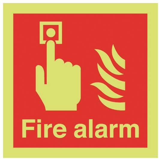 Picture of Photoluminescent Fire Alarm Sign