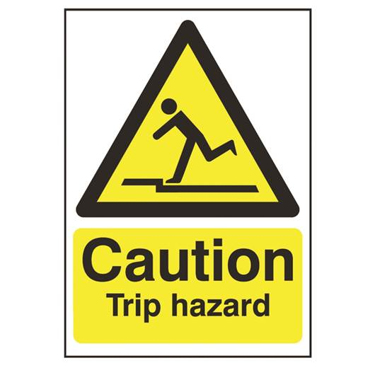 Picture of Caution Trip Hazard Sign