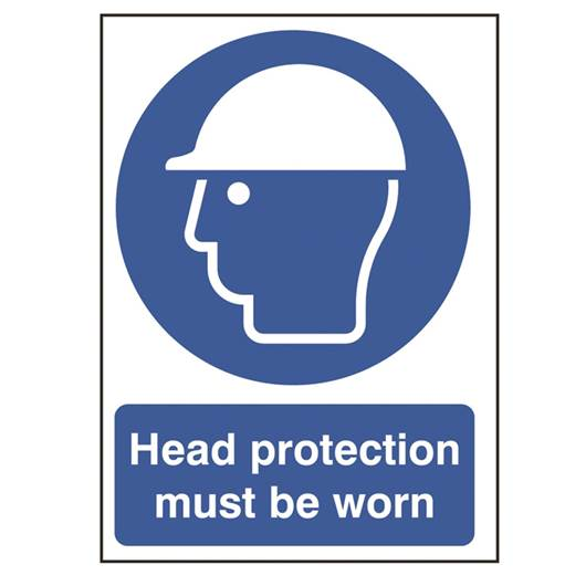 Picture of Head Protection Must Be Worn Sign