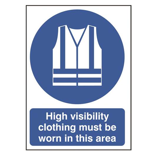 Picture of High Visibility Clothing Must Be Worn In This Area