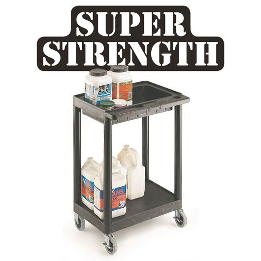 Picture of Large Multi-Purpose Trolleys with 2 Shelves