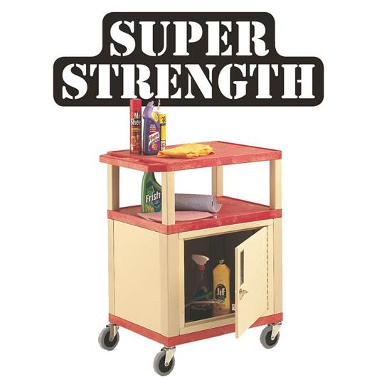 Picture of Plastic Trolleys with Coloured Shelves & Cabinet