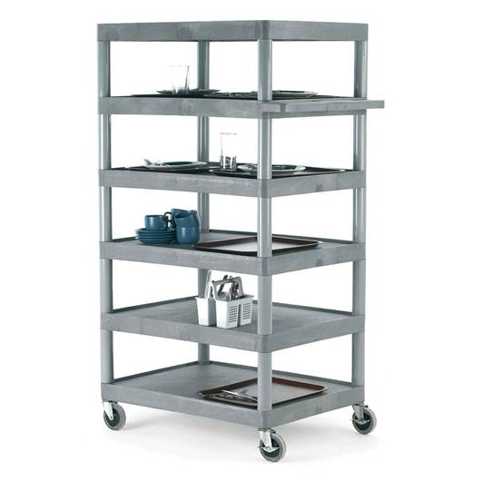Picture of Large Grey Shelf Trolleys