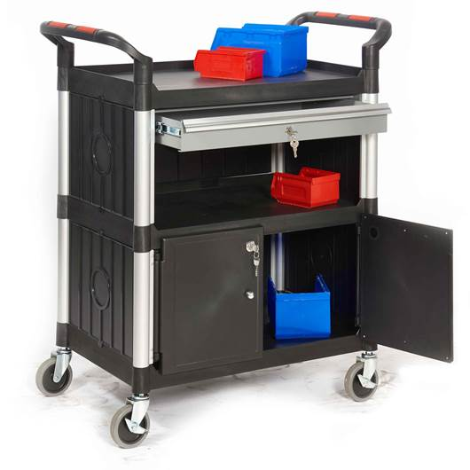 Picture of Proplaz Shelf Trolleys with Cupboards & Drawers