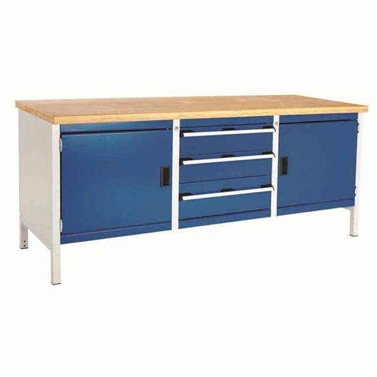 Picture of Super Heavy Duty Storage Bench with 2 Cupboards & 3 Drawers