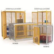 Picture of Yellow Security Cages