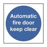 Picture of Automatic Fire Door Keep Clear Sign