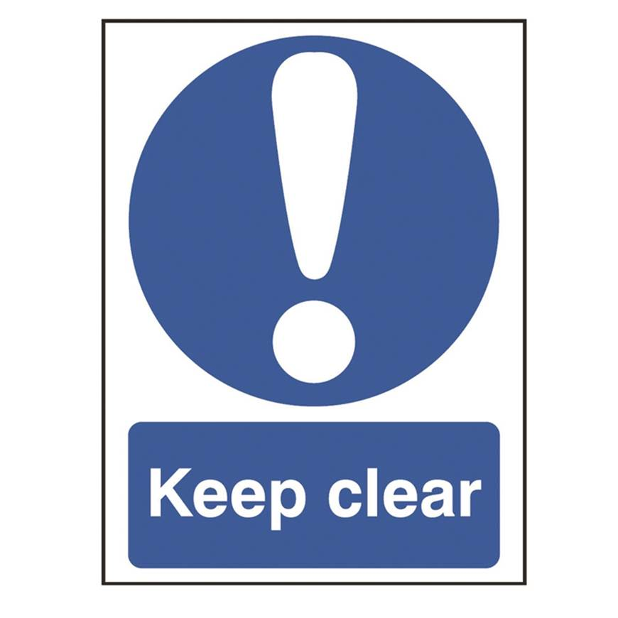 Picture of Keep Clear Sign