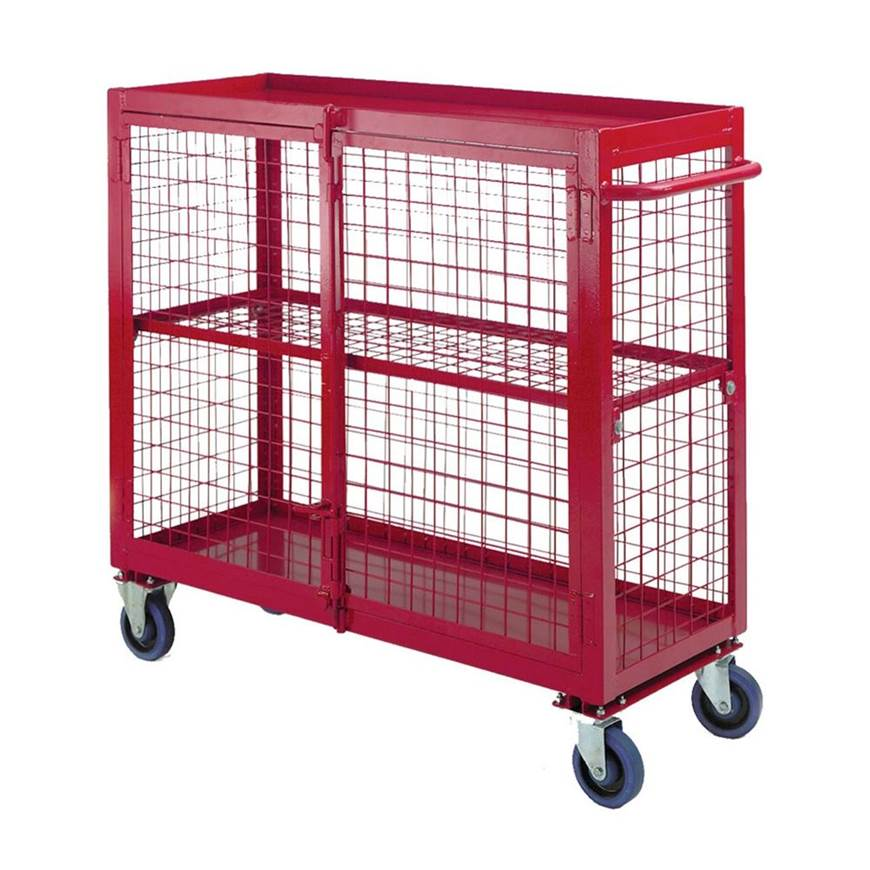 Picture of Two Braked Castors for Security Distribution Trolley