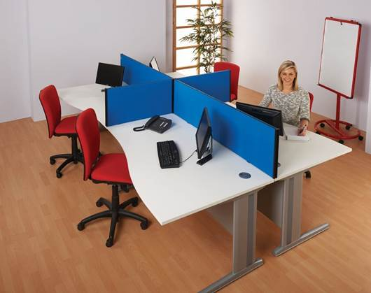 Picture of Busyscreen® Desk Screens - 1825mm High Flat