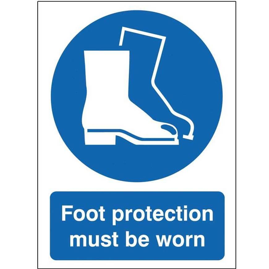 Picture of Foot Protection Must Be Worn Sign