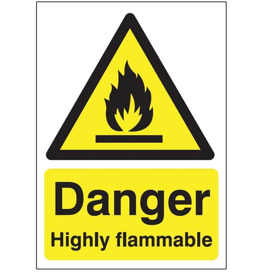 Picture of Danger Highly Flammable Sign