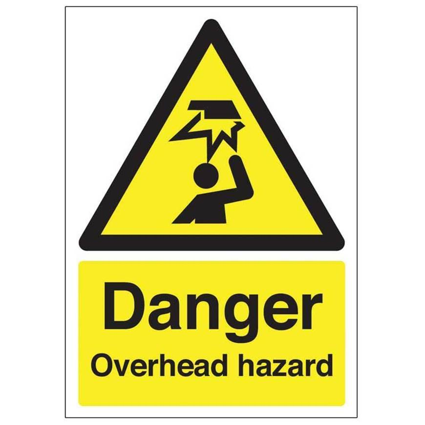 Picture of Danger Overhead Hazard Sign