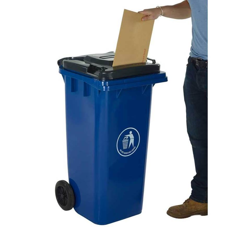 Picture of Wheeled Bins with Letter Slot Lid