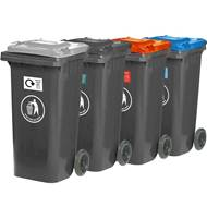 Picture of 120L Wheeled Bin with Coloured Lid